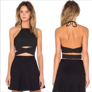 Lovers and Friends / Revolve Double Cross Crop Top
